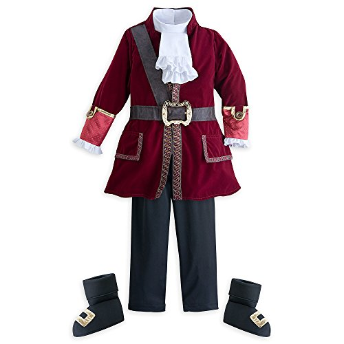 Disney Captain Hook Costume Kids Size 4 Multi