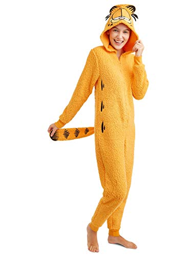 (Garfield Women's Licensed Sleepwear Adult Costume Union Suit Pajama (XS-3X))