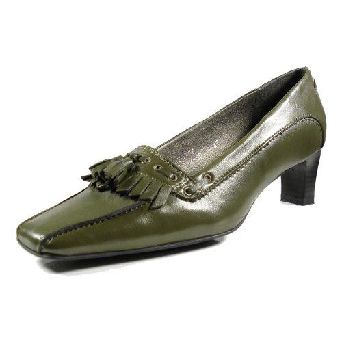 afis shoe-fashion 33757-161 Damen Schuhe Premium Qualität Pumps Grün (dunkelgrün) [EU 38.0]