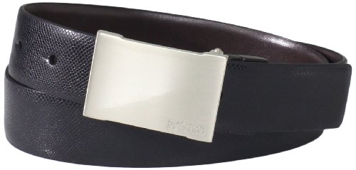Kenneth Cole REACTION Men's Indented Sides Buckle Belt