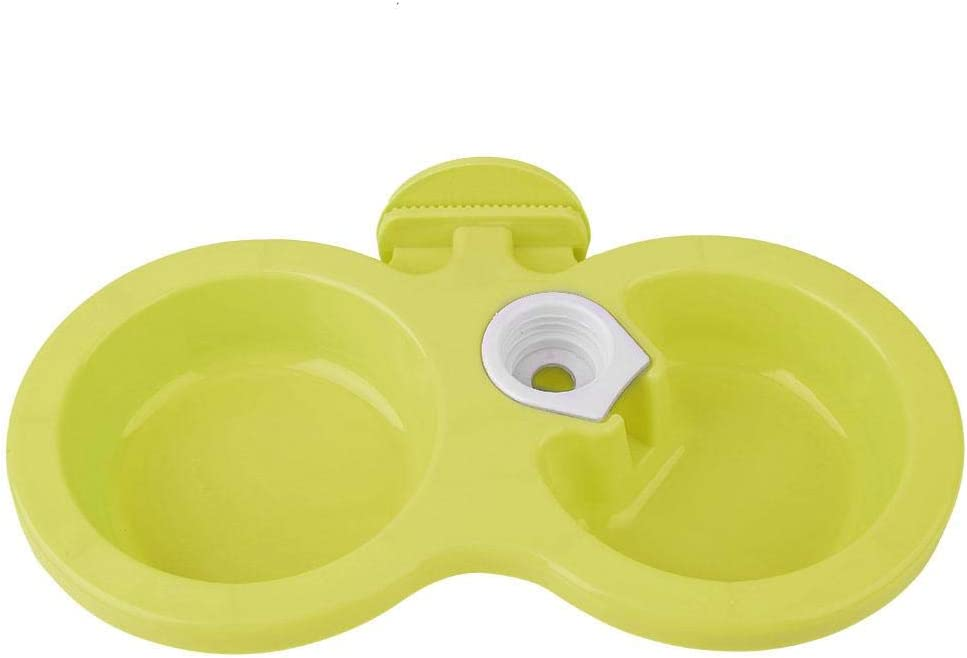 Hanging Pet Food Water Bowl, Dog Cat Double Bowl with Hanger Automatic Gravity Water Drinking Fountain Removable Small Pets Feeder for Cat Dog Puppy Crate Cage