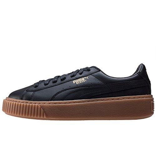 Puma Women's Basket Platform Core Low-Top Sneakers Black (Puma Black-puma Black) W5l8JuxoI