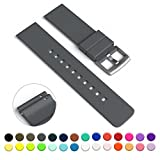 pebble watch steel - GadgetWraps 22mm Silicone Watch Strap / Band with Quick Release Pins (Gunmetal Grey, 22mm)