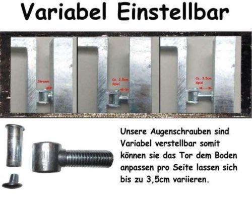 Doppelfl/ügeltor Einfahrtstor Gartentor Matten-Tor Hoftor Gr/ün 250cm x 143cm inkl Pfosten