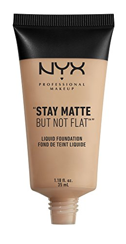 NYX PROFESSIONAL MAKEUP Stay Matte but not Flat Liquid Foundation, Soft Beige, 1.18 Fluid Ounce