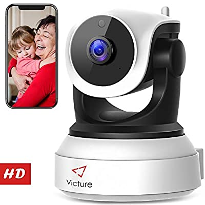 ?NEW VERSION?Victure WiFi IP Camera 720P HD Wireless Indoor Home Security Surveillance Camera with Night Vision Motion Detection Playback 2-Way Audio Dome Home Monitor for Baby Elder Pet Pan/Tilt/Zoom by victure