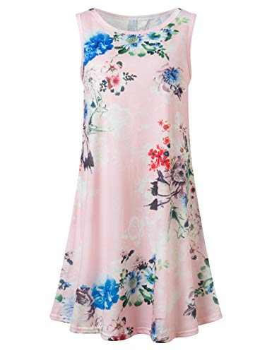 Bibowa Pink Dresses for Women Country Dresses Date Night Dress Pink Flowers M