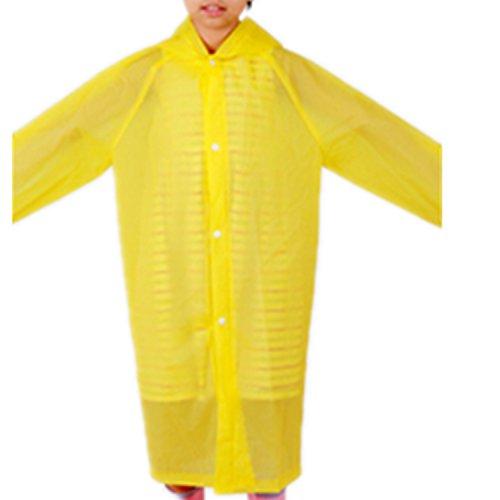 Raincoat Rainwear (Taiduosheng Age 6-12 Kids Hooded Jacket Girls Rain Raincoat Cover Long Boys Rainwear yellow,one size(36.2