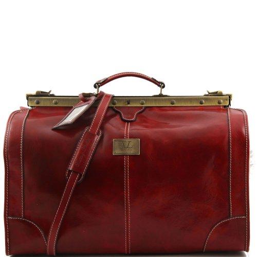Tuscany Leather - Sac de voyage en cuir - Rouge - Homme