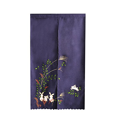 Cationic Fabric Rabbit Moon Tapestry Door Curtain Noren for sale  Delivered anywhere in Canada