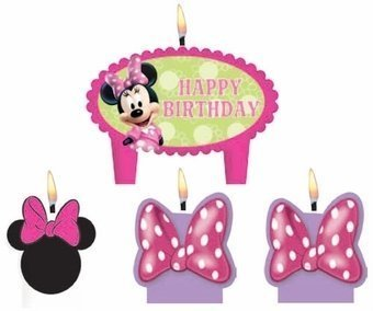 Minnie Mouse Birthday Cake Candles Set Decoration Toppers -