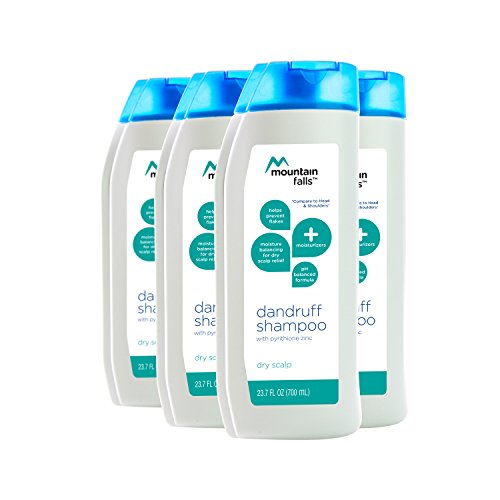 Mountain Falls Dandruff Shampoo, Dry Scalp Relief, with Almond Oil, Compare to Head & Shoulders, 23.7 Fluid Ounce (Pack of 4)