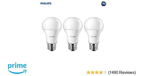 136386b874b Philips LED Non-Dimmable A19 Frosted Light Bulb  1500-Lumen