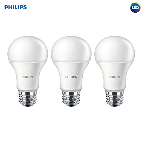 Philips LED Non-Dimmable A19 Frosted Light Bulb: 1500-Lumen, 2700-Kelvin, 14.5-Watt (100-Watt Equivalent), E26 Medium Screw Base, Soft White, 3-Pack - Bulb Frosted Led