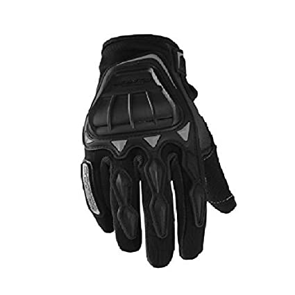 Ezip Leather Motorcycle Riding Gloves  Black,XL