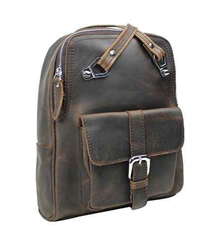 Vagabond Traveler Full Grain Cowhide Leather Backpack LK13 by Vagabond Traveler