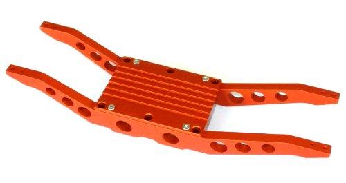 [E-Maxx 3903 or 3908 Orange anodized aluminum bottom braces FREE CENTER TRANNY COVER] (E-maxx Aluminum Chassis)