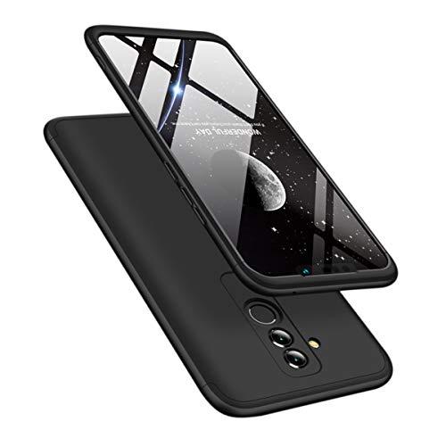 Ldea Huawei Mate 20 lite 2018 Case, 3 in 1 Slim Luxury 360 Full Protection Hard PC Case Cover (Black)