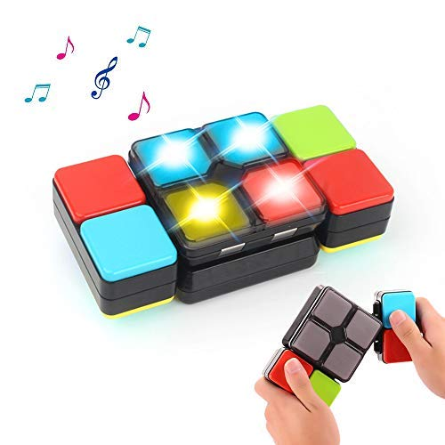 Joyfun Toys for 5-12 Year Old Boys Girls Rubiks Magic Cube Electronic Music Cube Kids Puzzle Game Novelty Toys for Teens Children Birthday Gifts Decompression Toys for Adults JF-MF (Games To Play With 12 Year Olds)