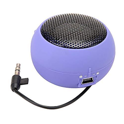 XNJTEQAQ Mini Portable Hamburger Speaker Amplifier for iPod Ipad Laptop for iPhone Tablet PC Purple