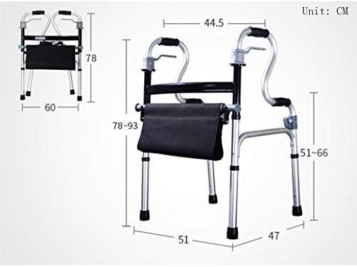 TWGDH Bastidor De Aluminio Ligero con Asiento, Altura Ajustable ...
