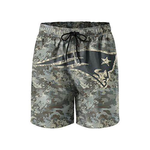 Mens Football Fans Veterans Day Camouflage Custom Fashion Beach Board Shorts Swim Trunks