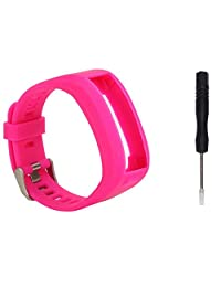 Kingfansion Garmin Vivosmart HR Fashion Sports Silicone Band Strap Bracelet (HOT Pink)