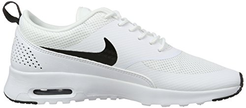 NIKE Black Air Blanc Basses Baskets White Thea Femme Max qTwqzR