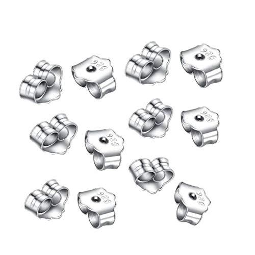 Adabele 10pcs x Authentic Sterling Silver Butterfly Earring Safety Back Earnut 6x5mm #ss176