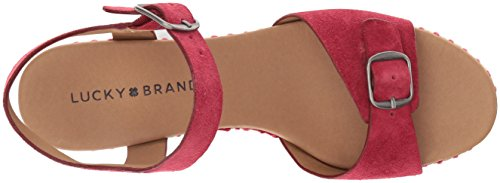 naveah3 Red Women's LK Lucky Brand Sandal Sb Espadrille Wedge tPz6wq