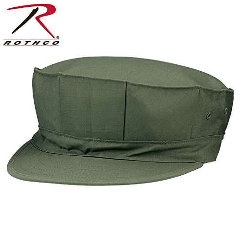 Poly/Cotton Cap With Out Emblem - Olive Drab, Small (Emblem Olive Drab)