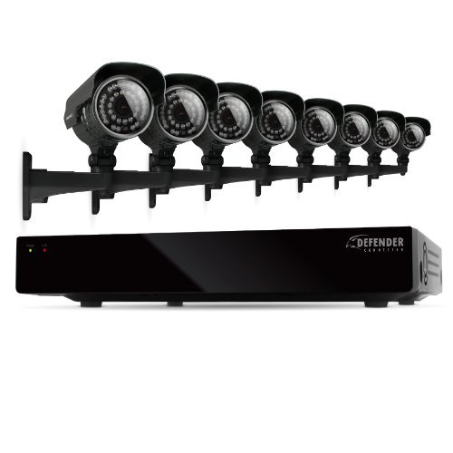 Defender Connected 8CH H.265 500GB Smart Security DVR with 8 x 600TVL IR Cut Filter 100ft Night Vision Indoor/Outdoor Cameras - 21025 by Defender