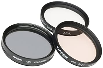 Tiffen 67mm Photo Essentials Kit with UV Protector Circular Polarizing Glass Filters and 4 Pocket Pouch 812 Color Warming