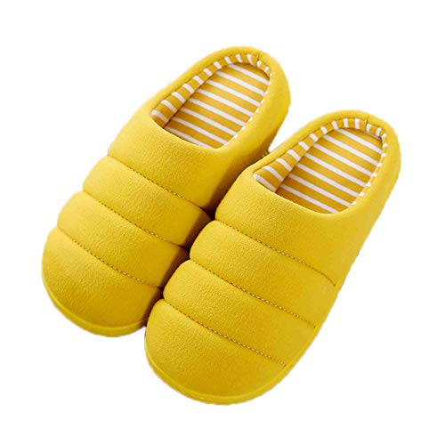 Back Open Indoor Yellow Cloth JadeRich Solid Cotton Slippers tIZgZqw8