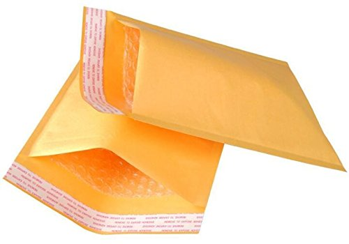 25 Pack Kraft padded envelopes 4x7 Bubble Mailers 4 x 7 Gold Kraft bubble envelopes Peel and Seal. Yellow cushion envelopes for mailing, packing & packaging. Shipping mailers in bulk, wholesale. Wholesale Packaging Materials