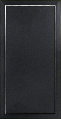 DesignOvation Wyeth Framed Magnetic Chalkboard Wall Organization Board, Black