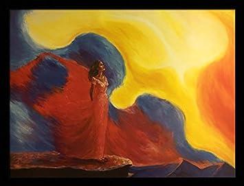US Art Praying Through The Strom Religious – Katherine Roundtree 24×32 Black Framed – African American Black Art Print Wall Decor Poster