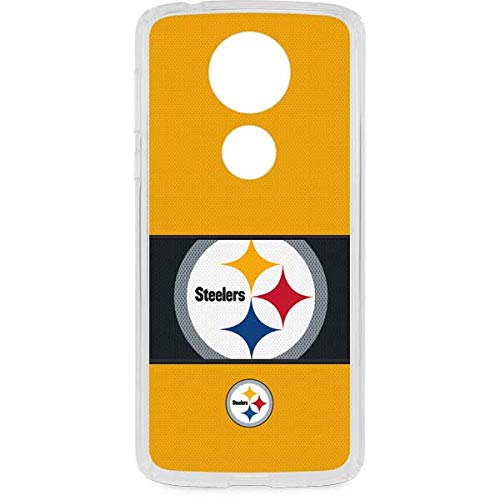 (Skinit Pittsburgh Steelers Zone Block Moto E5 Plus Clear Case - NFL - Skinit Clear Case - Transparent Moto E5 Plus Cover )
