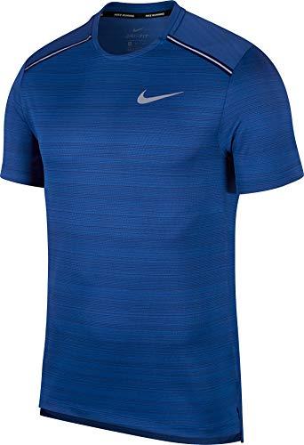 Nike Mens Dry Miler Top Short Sleeve Indigo Force/Blue Void/Reflective Silver 2XL