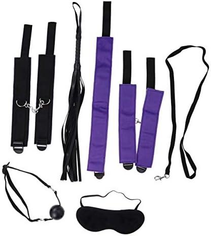 Supvox 7 stücke bett zurückhaltung kits handschellen knöchel armbänder öffnen mundknebel paare spiel