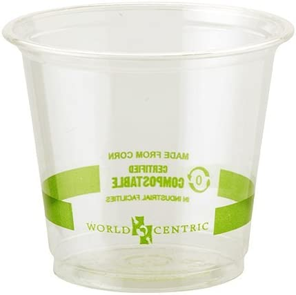 6 oz | Compostable & Biodegradable Plastic Cold Cups | 2,000 count