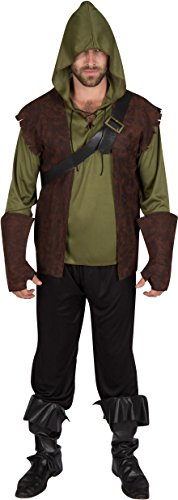Adult Men's Authentic Robin Hood Costume by Capital Costumes (Extra Large) (Vest Robin)