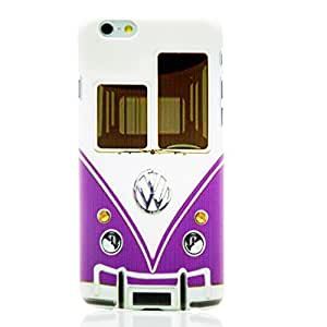"""Hard Case Back Cover Heavy Duty for Iphone 6 ( 4.7"""") with Free LCD Film Lovely Lila Car Big Bus by Maris's Diary"""