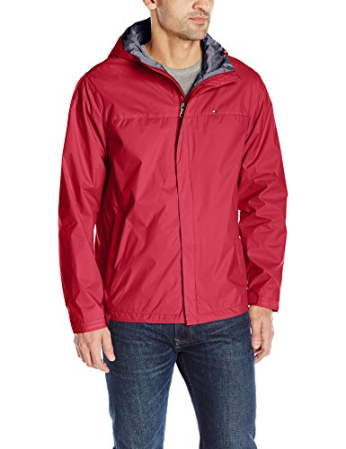 - Tommy Hilfiger Men's Waterproof Breathable Hooded Jacket, Red, Large