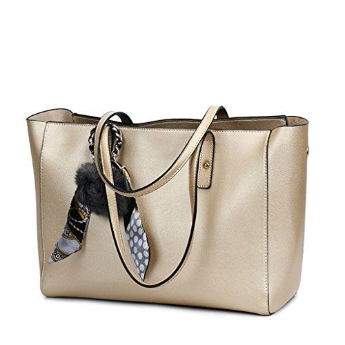 Handbag Bolso de Cuero de la PU del Bolso de Las Mujeres Bolso de Hombro de la Borla del Hombro de Europa y América Bolso de Hombro Negro A+ (Color : 1#, Tamaño : Hairball Pendant) 2#