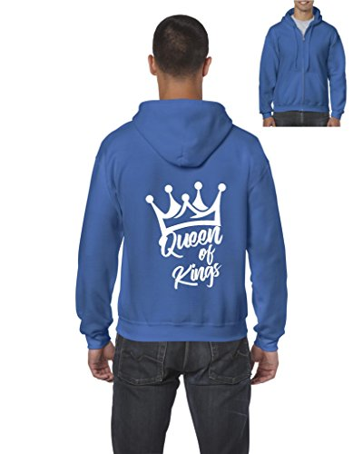 [Ugo Queen of Kings Matching Couples Christmas Birthday Fathers Day Gift Full-Zip Men's Hoodie] (Felpa Hoody)