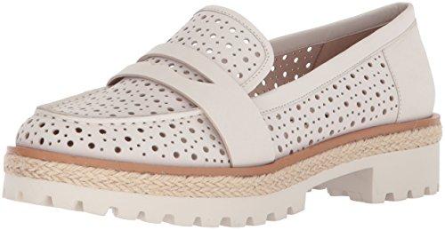 White Nubuck Shoes (Nine West Women's Gradskool Nubuck Oxford Flat, Off White Nubuck, 6 Medium US)