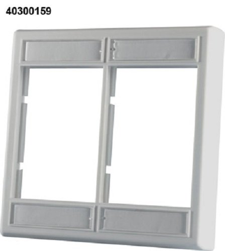 (Ortronics Double-Gang Series II Faceplate, Fog White OR-40300159)