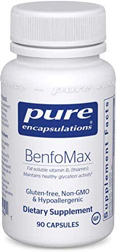 Pure Encapsulations - BenfoMax - Hypoallergenic, Fat-Soluble Vitamin B1 (Thiamine) Supplement - 90 Capsules
