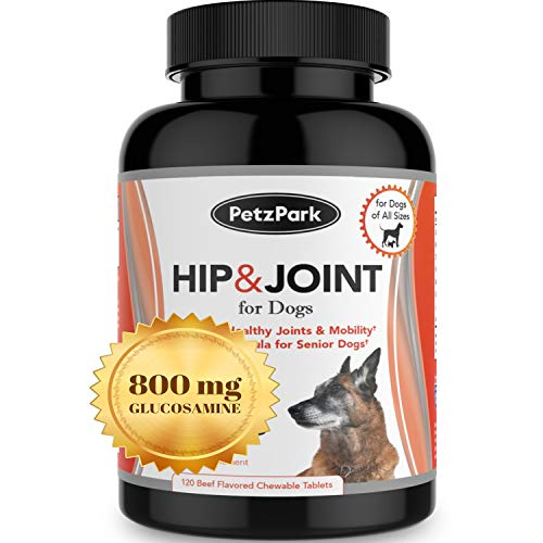 Glucosamine for Dogs Chondroitin MSM - Hip and Joint Support for Dogs of All Ages, Breeds and Sizes - Arthritis Pain Relief Formula 800mg - Extend Joint Care Supplement for Dog - 120 Chewable Tablets (Tablets Dog 120)